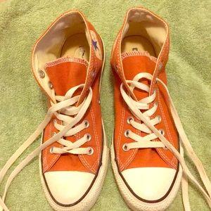 Converse UT Orange unisex high tops size 7/9